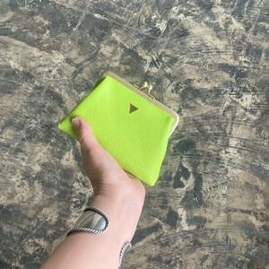NEW  mini   ウォレット/がまぐち財布 ネオンライム