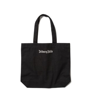 """Delivery Hells"" TOTE BAG (M)  BLACK  19AW-DH-29"