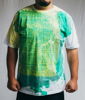 TYPICAL FREAKS - Painted cutting mat tshirt(特注) - TFMEN1-15