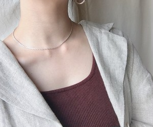 Silver necklaceA
