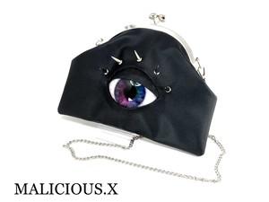 eye chain shoulder metal clasp bag / rainbow