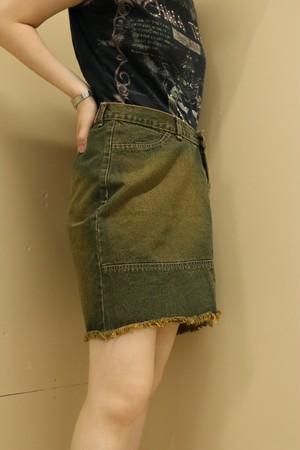 denim mini skirt / 7SSSK09-18