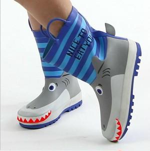 7857雨靴 キッズ  子供 子ども  ジュニア 長靴  レインブーツ レインシューズ ブルー