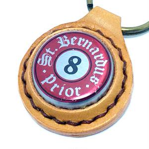 セント ベルナルデュス プリオール 8ビール ボトルキャップコンチョキーホルダー ブラウン
