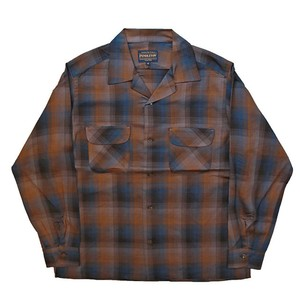 PENDLETON/ペンドルトン Open Collar Shirts Brown×Navy [MN-0175-9009]