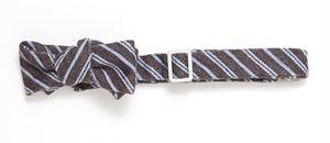 デニム ストライプ ボウタイ Occasion Stripe Denim Bow Tie