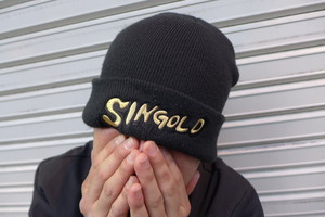 KNIT CAP (BLK/GOLD)