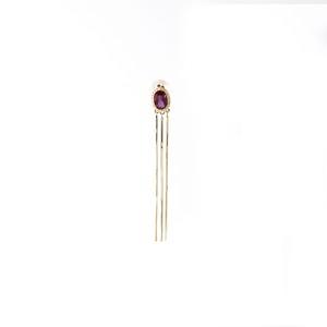 【Restock】Mystic Oval Stone Single Earring