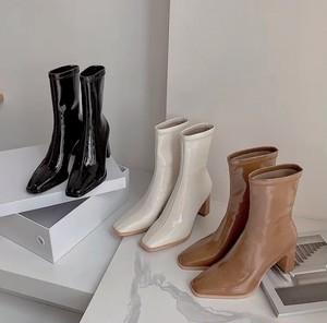 enamel pu boots 3color