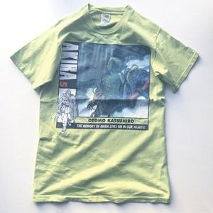 90s AKIRA 5巻 ヤンマガ抽選Tシャツ  黄緑 サイズ (M)