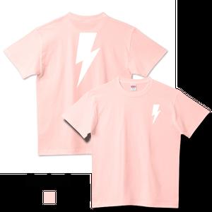 【再入荷】ホワイトサンダーボルトTシャツ ベビーピンク(United Athle)メンズ レディース キッズ Number8(ナンバーエイト)