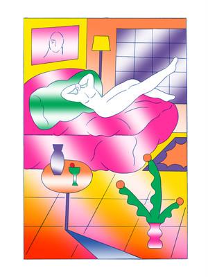 Chou Yi(周依)リソグラフ 作品「最後一聲晚安」