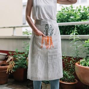 Half apron orange carrot ハーフエプロン オレンジキャロット