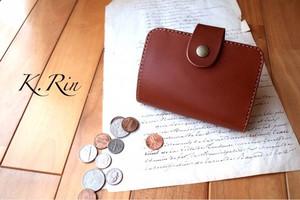 【受注制作】シンプルデザインの2つ折りハーフ財布