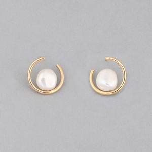 Keshi pearl circle pierce