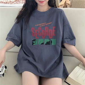 【トップス】カジュアルダークグレーなし ラウンドネックTシャツ26655241