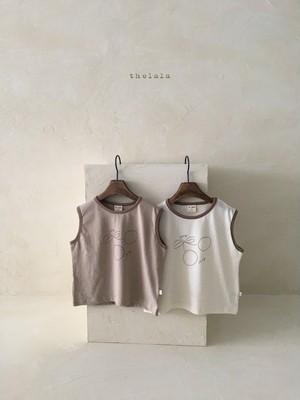 the lalla / さくらんぼノースリTシャツ
