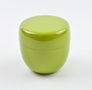 【茶道具/棗】おしゃれ かわいい カラー棗(ライトグリーン)