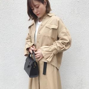 フリルスリーブミリタリージャケット【&mode】