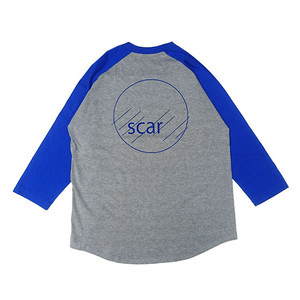 scar /////// CIRCLE RAGLAN 3/4 SLEEVE TEE (Grey / Blue)