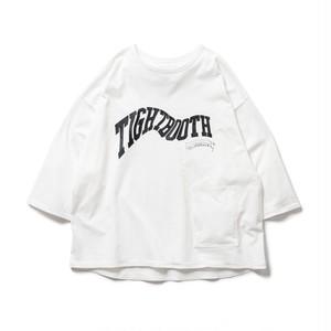 TIGHTBOOTH  ACID LOGO 7 SLEEVE T-SHIRT WHITE L