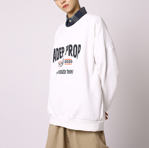 Front point logo over size sweatshirts LD0591