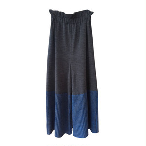 Knit Wide trousers/GRAY