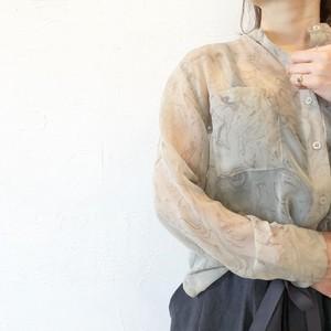 marble sheer  blouse