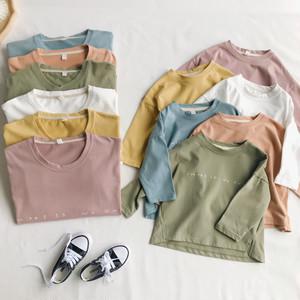【売れ筋!】【親子お揃い】【ママ用】6色ゆったり長袖Tシャツ