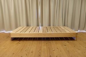 赤板タイプ【百年杉】フラット セミダブル(「眠れる森のSUG」ベッドI)