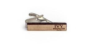 ヴィンテージ ポプラウッド ネクタイピン IPロゴ Wooden IVY PREPSTER Bar - Poplar