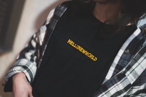 刺繍ロゴ ロンT【Yellow】