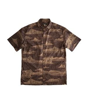 Mountain Men's  ボタンダウンアロハシャツ  /  Topographic  Brown