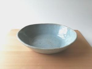 松灰釉オーバル中鉢