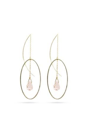 Drop in Oval American Earrings