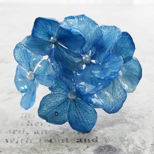 本物 紫陽花バングル 2(ブルー)