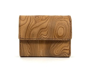 MAGNET Three Fold Compact Wallet Wood Natural
