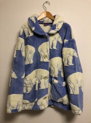 2000's DESCENTE white bear eco fur jacket
