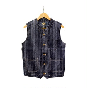 WORK VEST (INDIGO STRIPE)