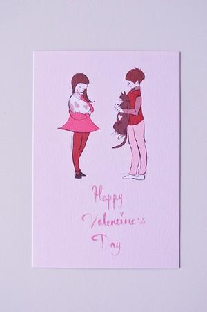 バレンタイン ポストカード