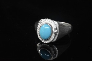 Life snake turquoise square ring
