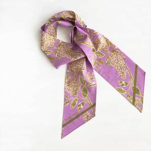 ツイリースカーフ|リラの花 パープル(コットン)
