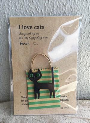 I love cats ねこブローチ 016