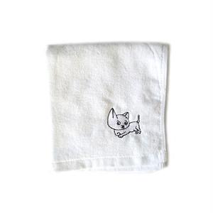 cibidomo - Kuchimawari yogoretaro Hand Towel (White)