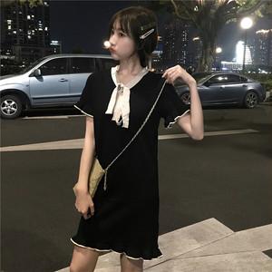 【トップス】新作韓国風ファッションリボン付き気質良いニットワンピース