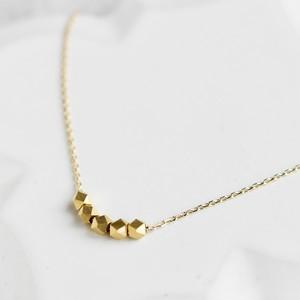 【ネックレス】シンプル マットゴールド・最大45cmまで自由に長さ調節できる♪