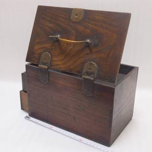 ソロバン仕込み掛硯箱