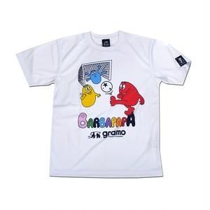 BARBAPAPA×gramo コラボ プラシャツ「SMILE」(ホワイト/P-040) ※120cm~150cm