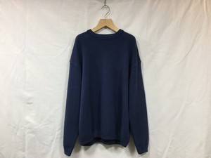 "crepuscule ""  Moss stitch L/S sweat  "" Blue"