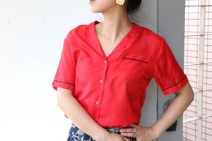 Silk red pajama shirts